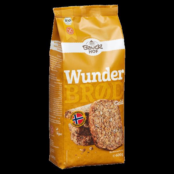 Bauckhof  Bio Wunderbrød Gold mit Kurkuma glutenfrei