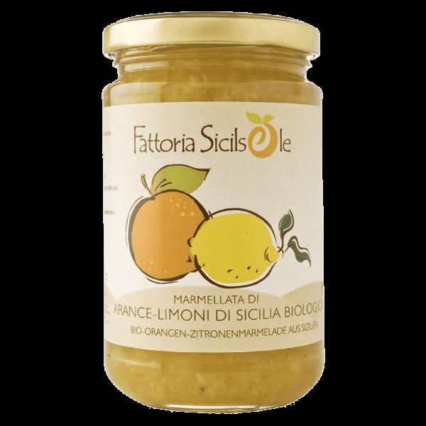 Fattoria Sicilsole Bio Orangen-Zitronen Marmelade