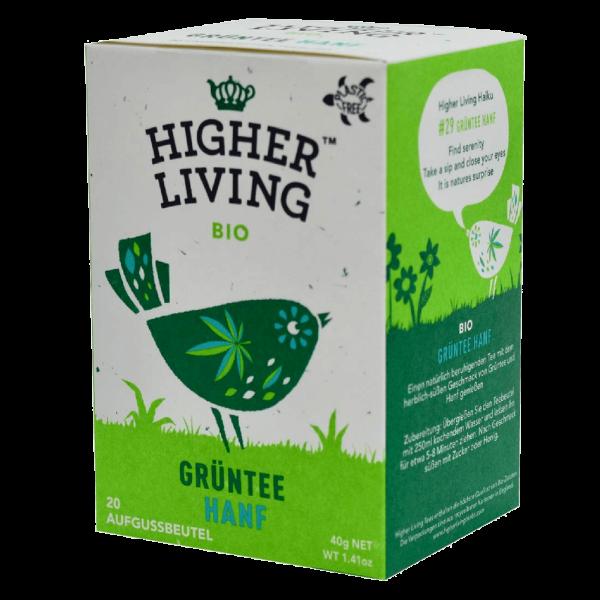 Higher Living Bio Grüntee Hanf, 20Btl
