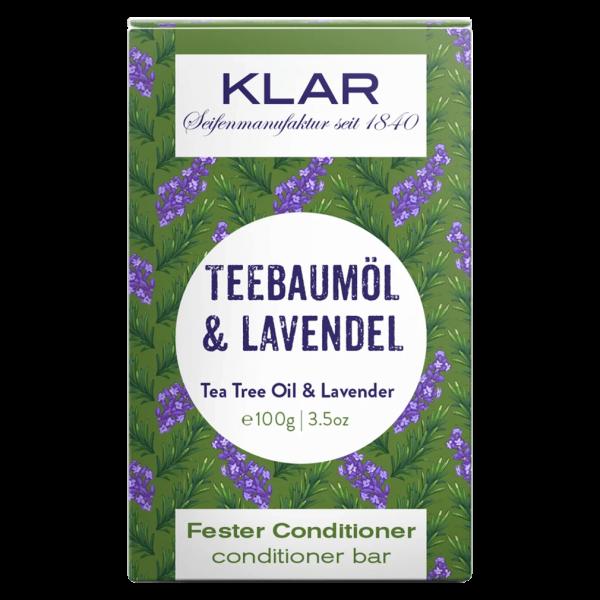 Klar Seifen Fester Conditioner Teebaumöl & Lavendel