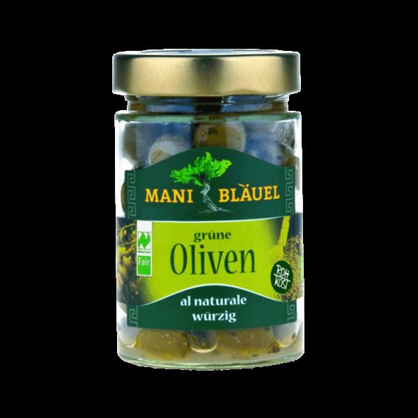 Bio Grüne Oliven al Naturale