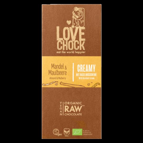 Bio Raw Creamy Maulbeere-Mandel Rohschokolade