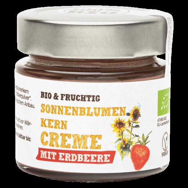 Schalk Mühle Bio Sonnenblumenkern Creme mit Erdbeere