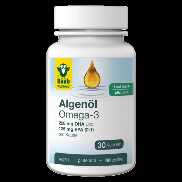 Raab Vitalfood Algenöl Omega 3 Kapseln
