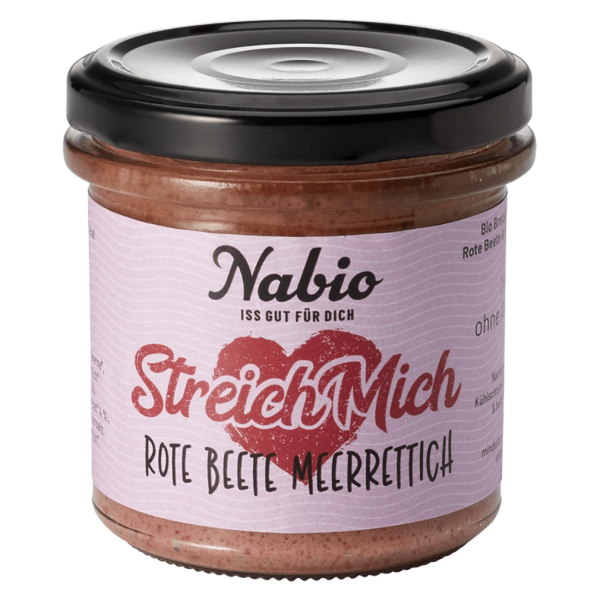 NAbio Bio Rote Beete-Meerrettich Aufstrich