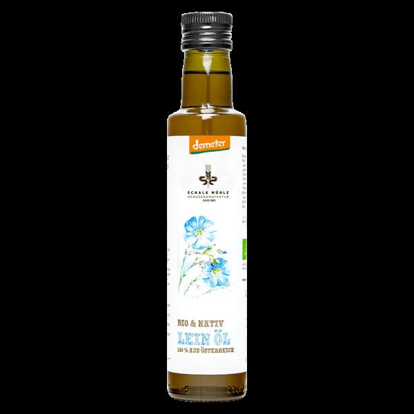 Schalk Mühle Bio Österreichisches Leinöl nativ, demeter, 250 ml