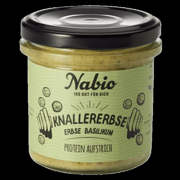 """NAbio Bio Protein-Aufstrich """"Knallerebse"""" - Erbse Basilikum"""