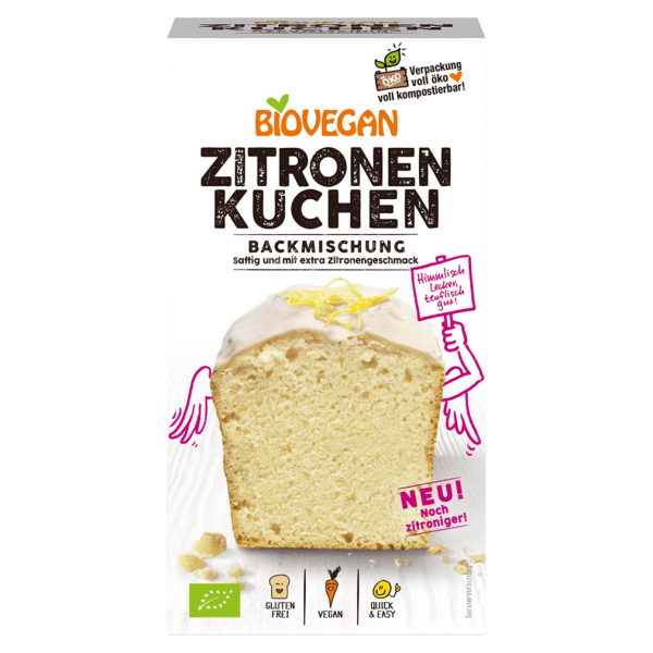 Biovegan Bio Zitronenkuchen Backmischung
