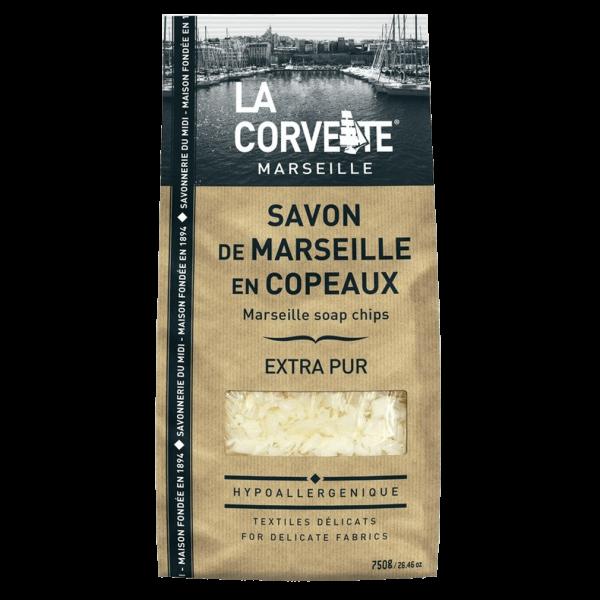 La Corvette Savon de Marseille Extra Pur Seifenflocken im Beutel, 750 g