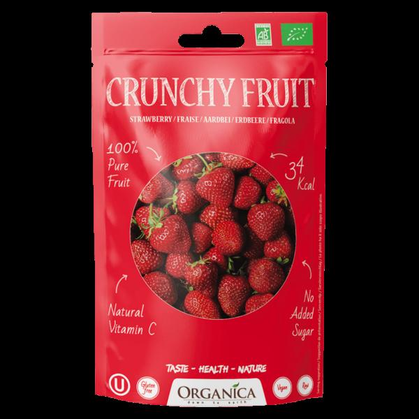 Organica Bio Crunchy Fruit, Erdbeeren