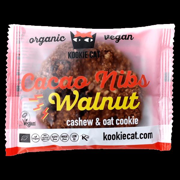 Kookie Cat Bio Kakaonib-Walnuss Cookie