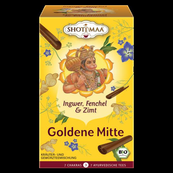 Shotimaa Bio Goldene Mitte Ingwer, Fenchel & Zimt Tee