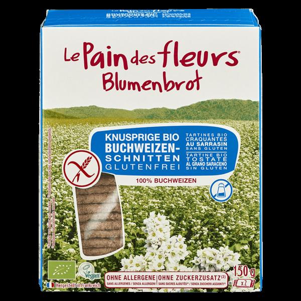 Blumenbrot Bio Knusprige Buchweizen Schnitten ohne Salz & Zucker