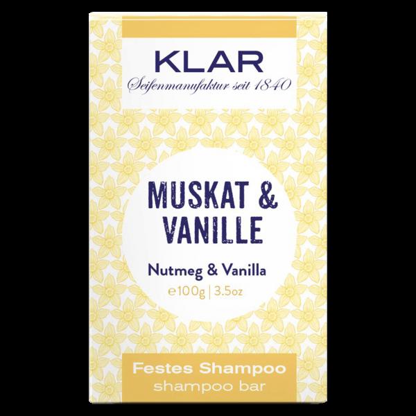 Klar Seifen Klar's festes Shampoo Muskat & Vanille