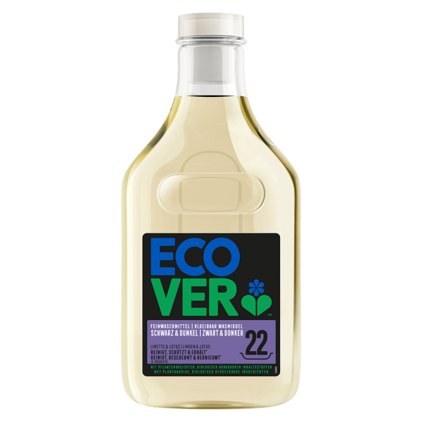 Ecover Feinwaschmittel Schwarz & Dunkel Limette & Lotus