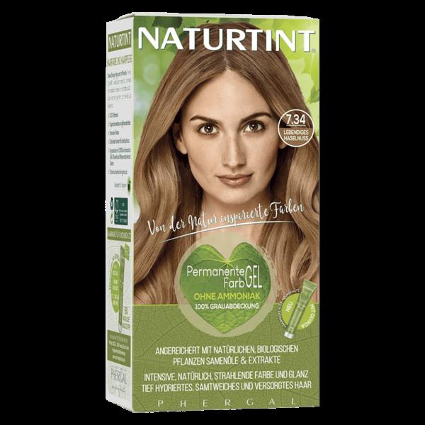 Naturtint Haarfarbe 7.34 Lebediges Haselnuss