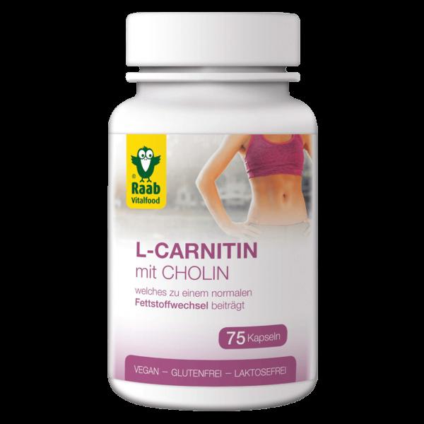 Raab Vitalfood L-Carnitin mit Cholin, 75 Kapseln