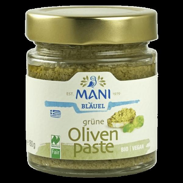 Bio Grüne Olivenpaste, 180 gr Glas