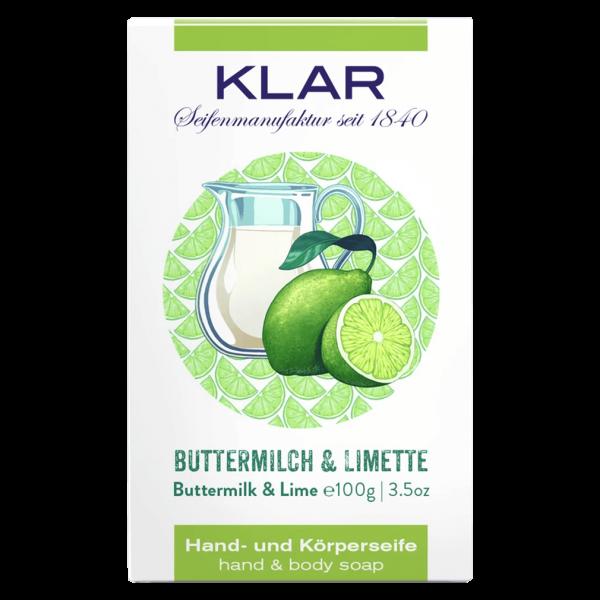 Klar Seifen Buttermilch & Limetten Seife