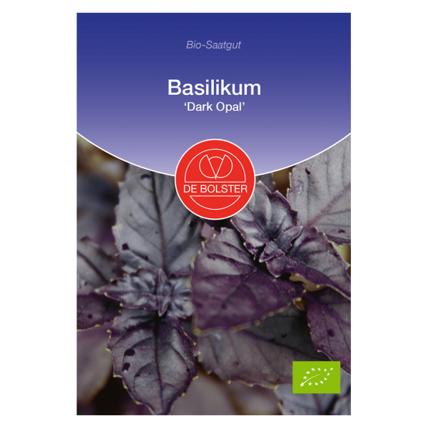 DE Bolster Bio Basilikum, Dark Opal