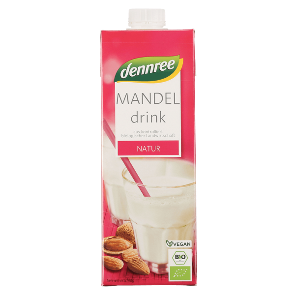 dennree Bio Mandel Drink Natur, 1l