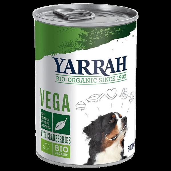 Yarrah Bio Hundefutter vegan, getreidefrei mit Cranberries, 380 gr Dose
