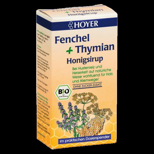 Hoyer Bio Fenchel + Thymian Honigsirup
