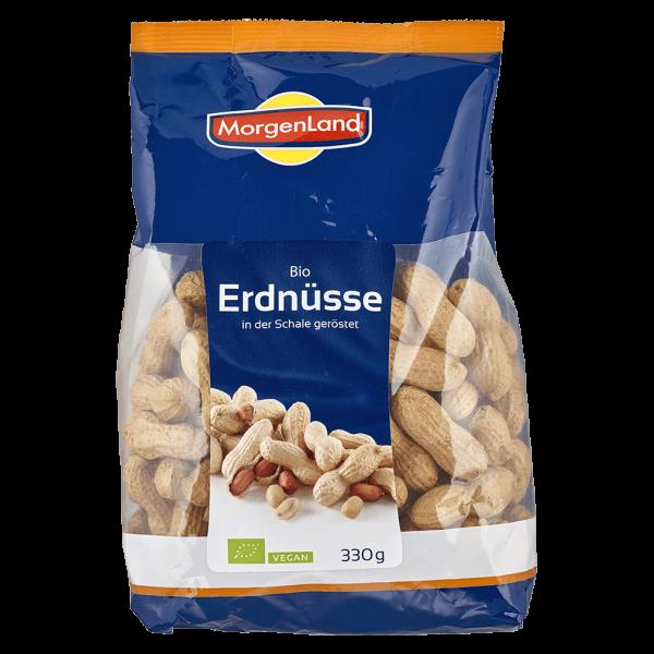 MorgenLand Bio Erdnüsse in der Schale, geröstet