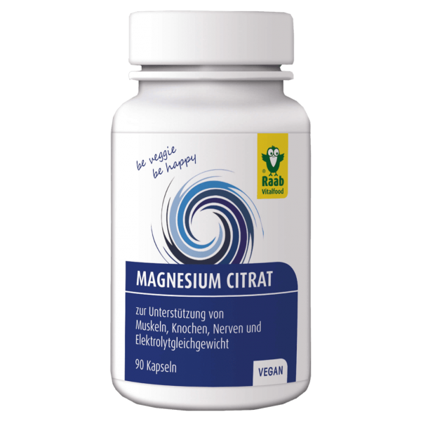 Raab Vitalfood Magnesiumcitrat Kapseln, 90 Stück