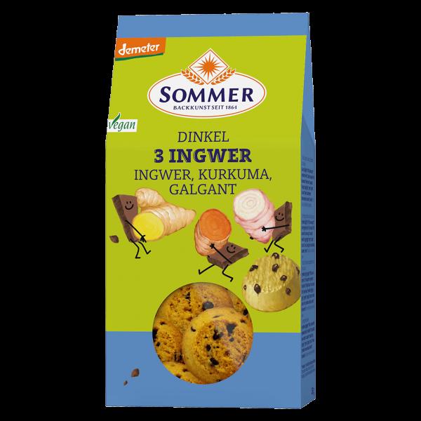 Sommer Bio Dinkel 3 Ingwer Cookies