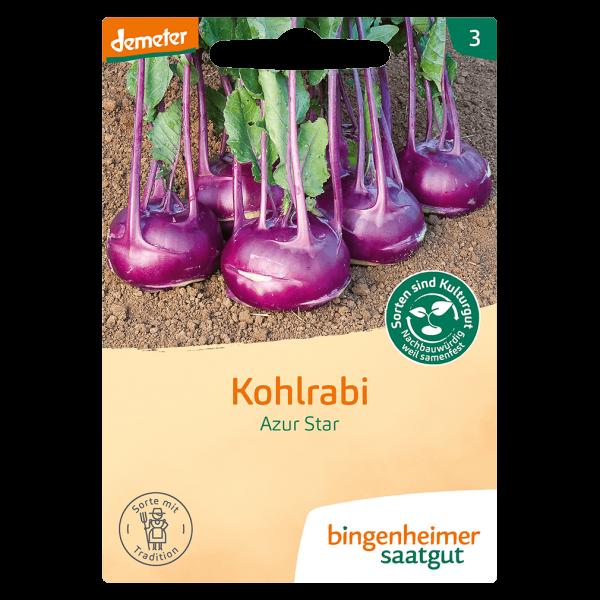 Bingenheimer Saatgut Bio Kohlrabi Azur Star