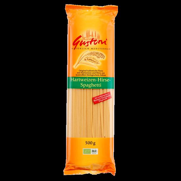Gustoni Bio Hartweizen-Hirse-Spaghetti 500g