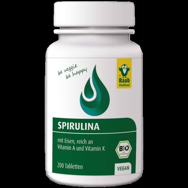Raab Vitalfood Bio Spirulina, 200 Tabletten