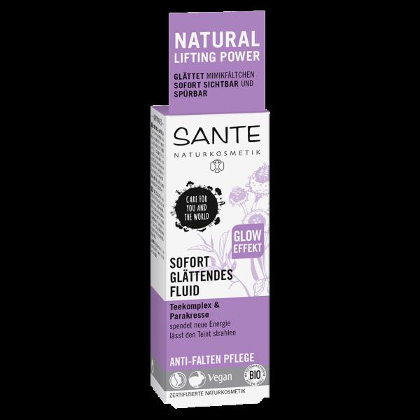 Sante Naturkosmetik sofort glättendes Fluid Teekomplex & Parakresse, 30 ml