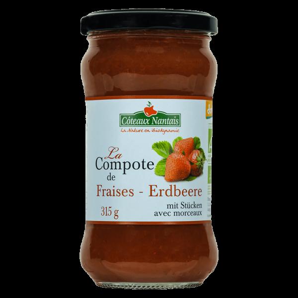 Coteaux Nantais Bio Compote Erdbeeren