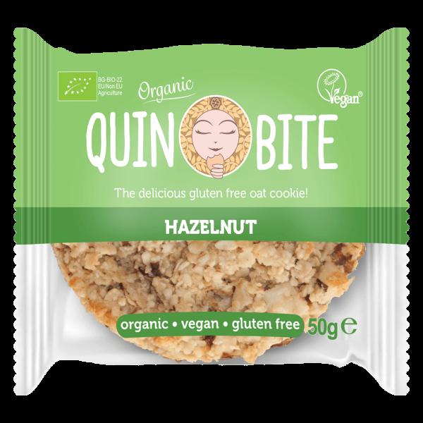 Quin Bite Bio Cookie Hazelnut, 50g