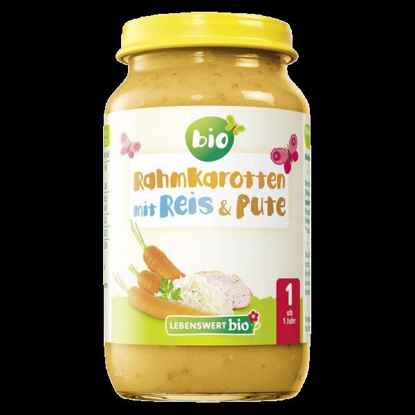 Holle Bio Lebenswert Rahmkarotten mit Reis & Pute