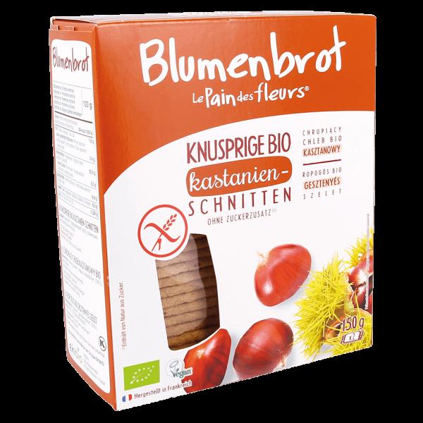 Blumenbrot Bio Knusprige Kastanie-Schnitten glutenfrei