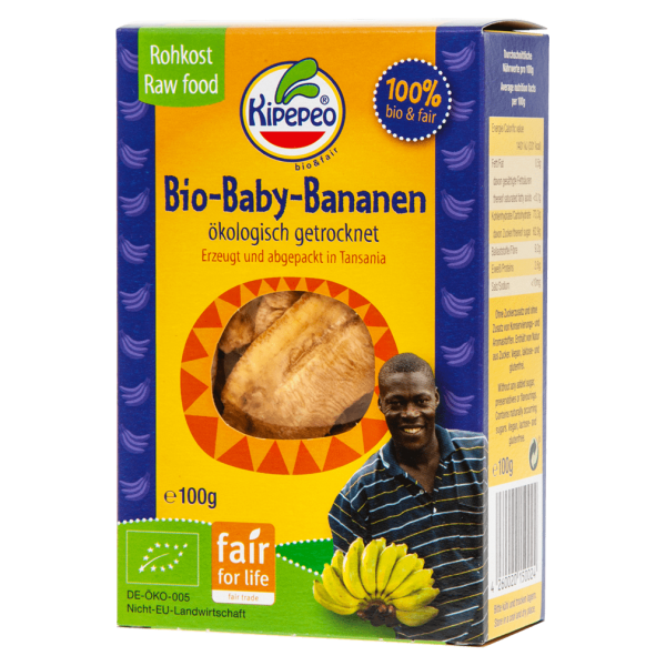 Kipepeo Bio Baby Bananen getrocknet