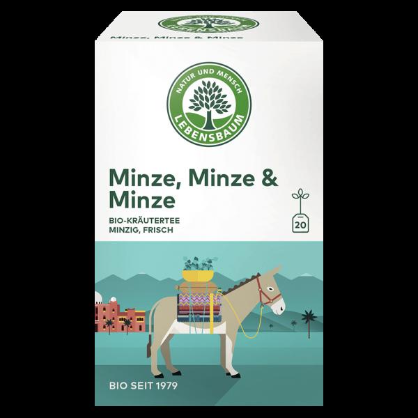 Lebensbaum Bio Minze, Minze & Minze Tee, 30g