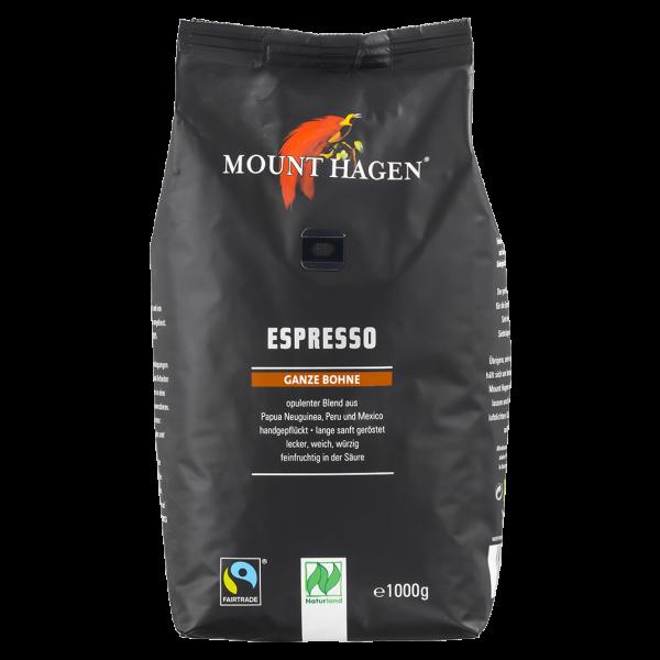 Mount Hagen Bio Espresso, ganze Bohnen