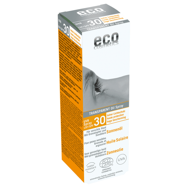 Eco Cosmetics Sonnenöl LSF 30 transparent, 50 ml Sprayflasche