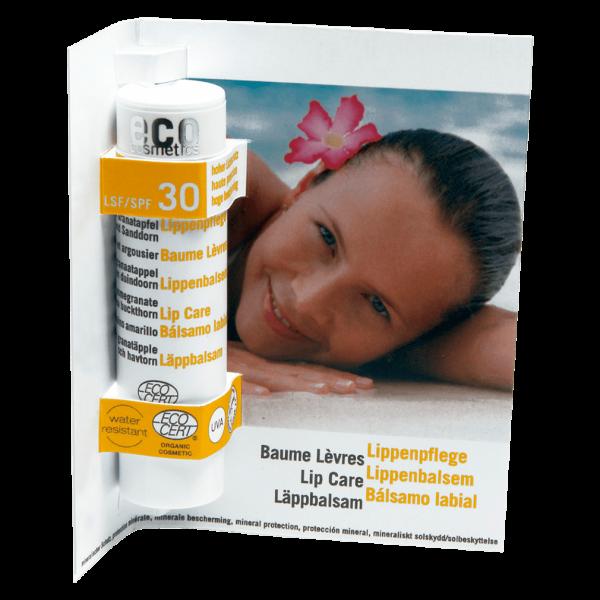 Eco Cosmetics Lippenpflege mit LSF30