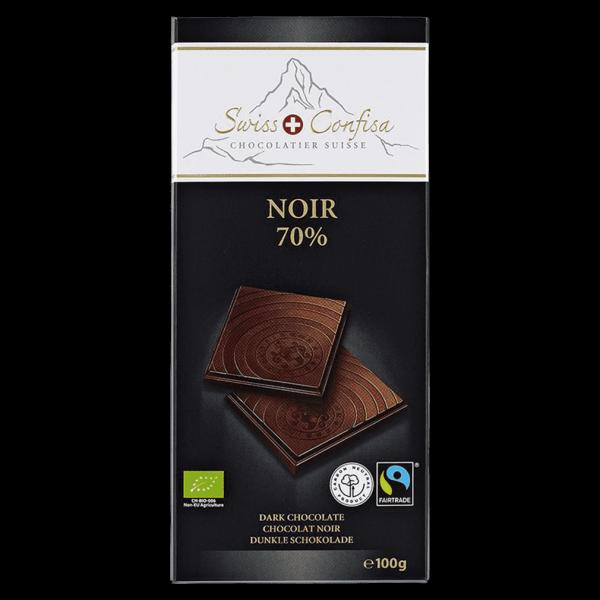 Swiss Confisa Bio Noir 70%