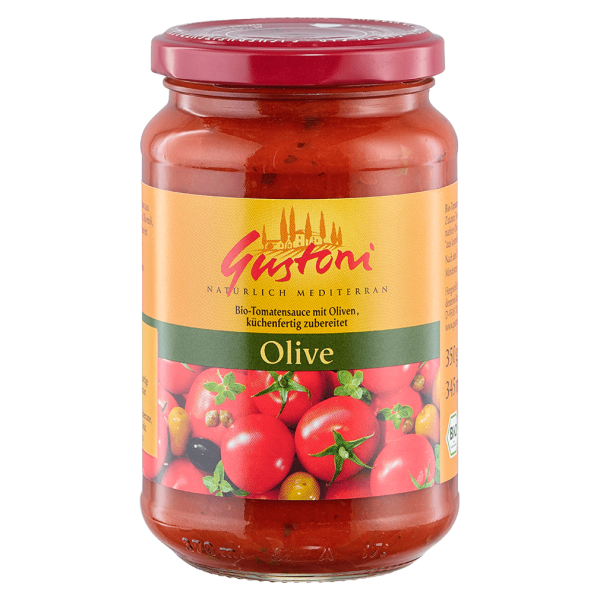 Gustoni Olive, Tomatensauce mit Oliven