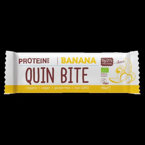 Quin Bite Bio Banane Proteinriegel