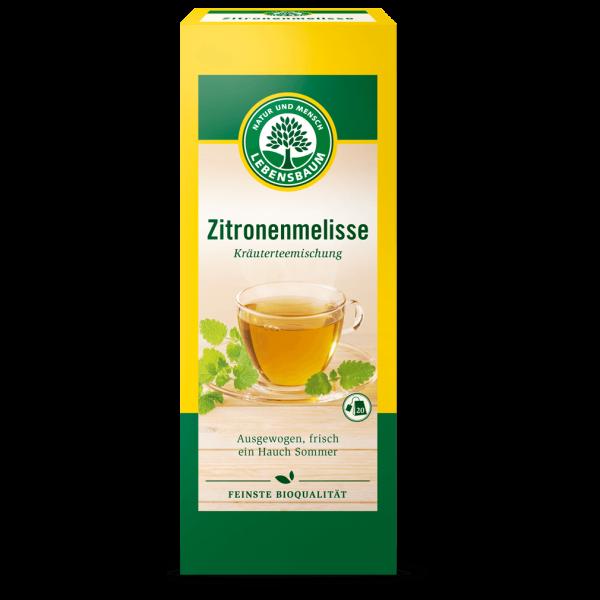 Lebensbaum Bio Zitronenmelisse mit Zitronengras Tee, 20Btl.