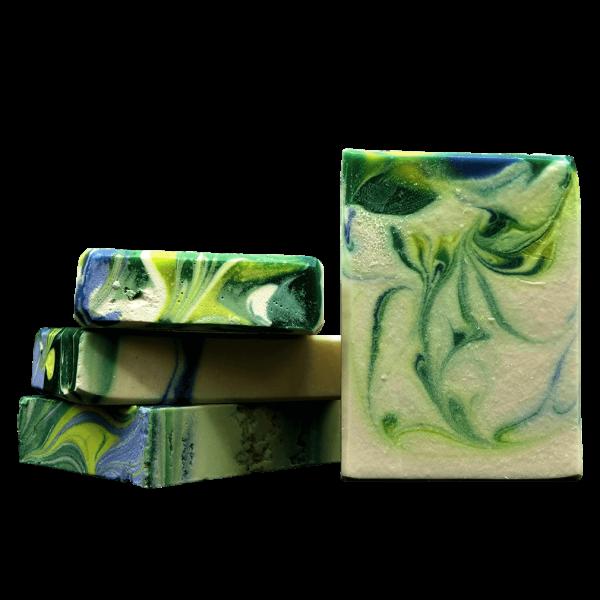Natalie Seifenmanufaktur White Tea & Coconut Leaf Hand- und Körperseife, handgesiedet, 9 % Überfettung