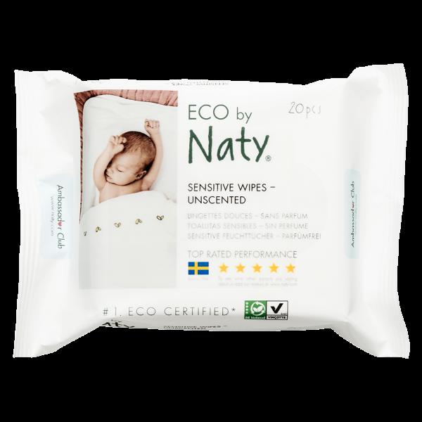 Naty Öko Feuchttücher Reisegröße sensitiv (parfümfrei)