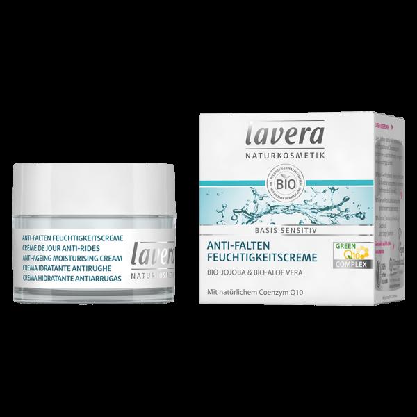 Lavera basis sensitiv Anti-Falten Feuchtigkeitscreme Q10, 50 ml Tiegel